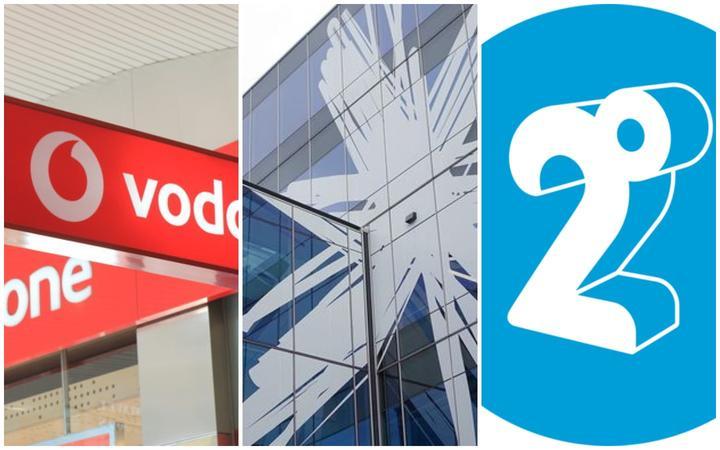 Vodafone, Spark and 2degrees logos.