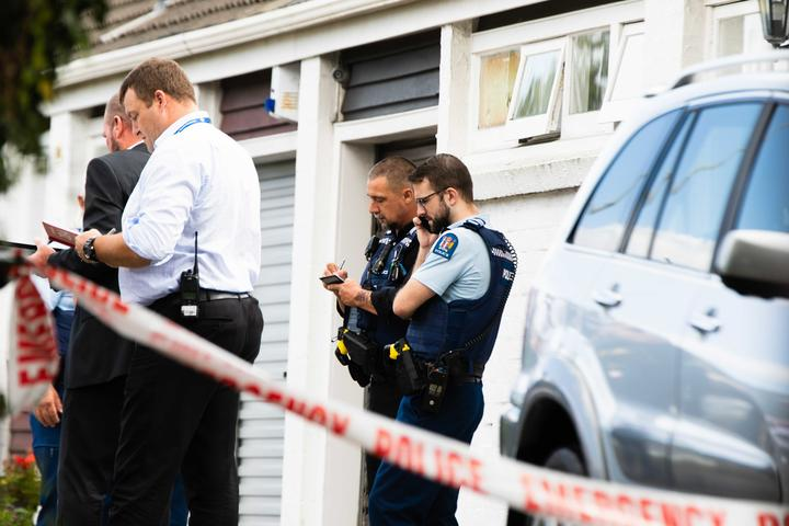 Police at the scene of a 'serious incident' in Epsom, Auckland.