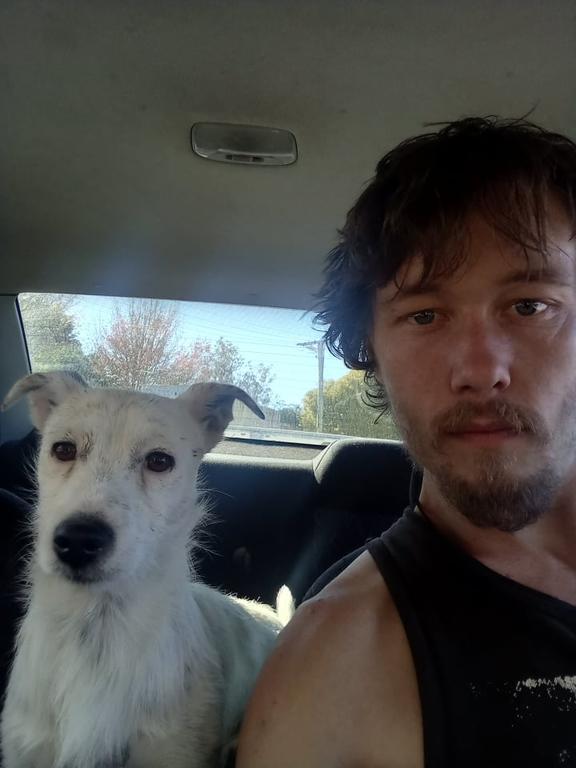 Bro and Damon Jeffery, his owner