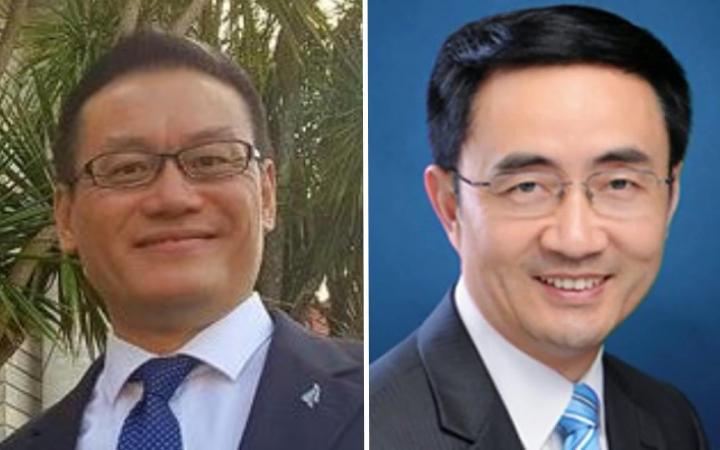 Labour MP Raymond Huo and National MP Jian Yang
