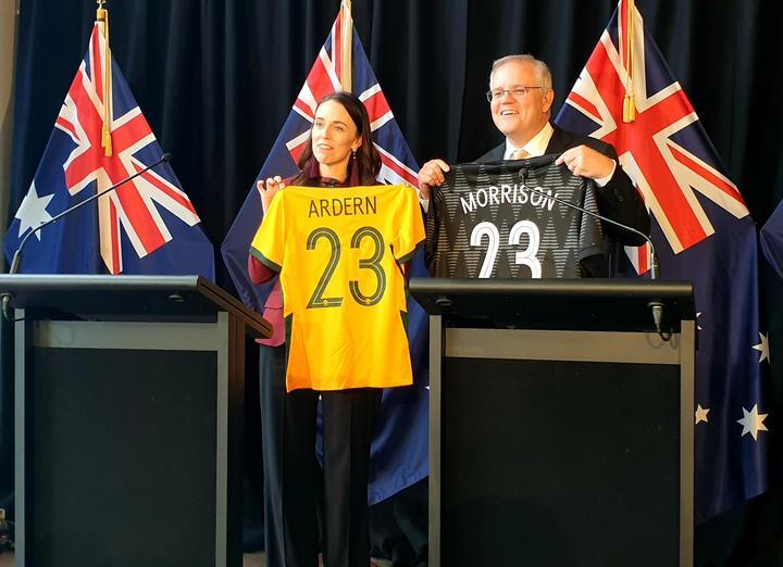 Prime Minister Jacinda Ardern and her Australia counterpart Scott Morrison.