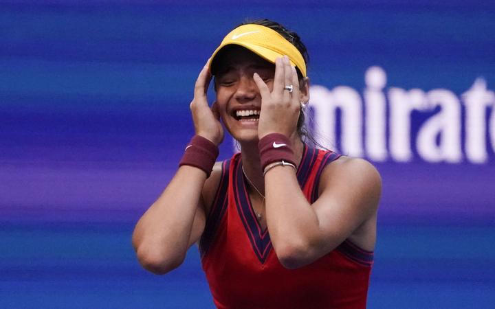 Tennis player Emma Raducanu wins the US Open