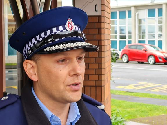 Waikato West Area Commander Inspector Will Loughrin.