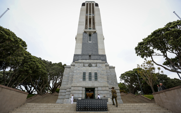 Last Post ceremony at the National War Memorial in Wellington.