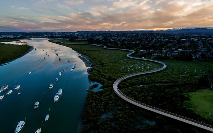 The $37 million shared path alongside the Whau River connecting New Lynn and Te Atatū