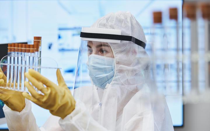 A scientist studying coronavirus.
