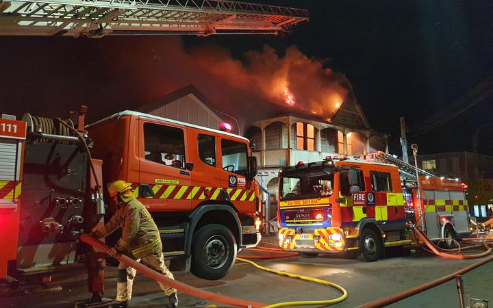Fire at Abel Smith Street, Wellington.
