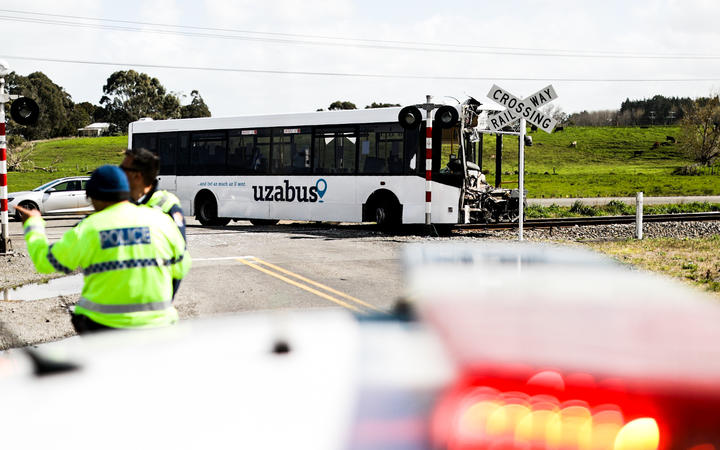 The driver of the bus was killed in the crash.