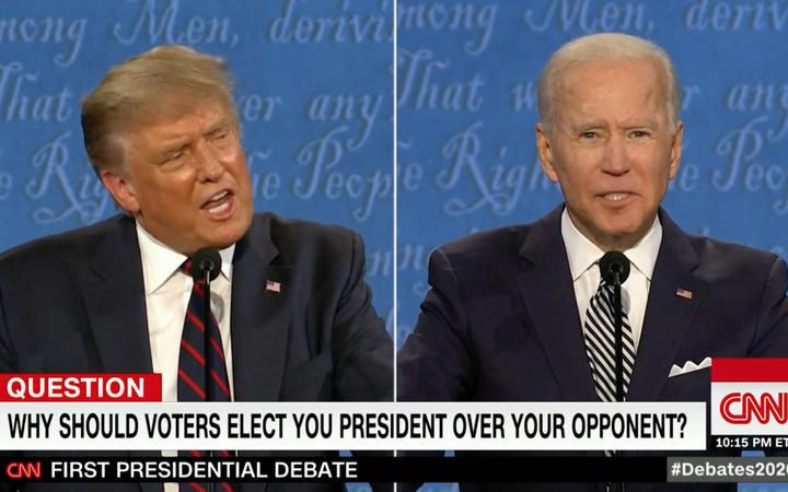 Republican nominee Donald Trump and Democratic nominee Joe Biden face off in the first general election presidential debate of 2020 on 30 September, 2020.