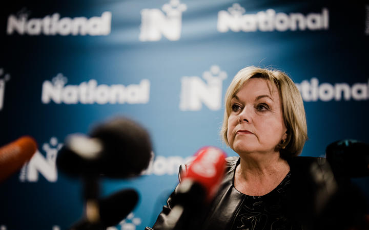 """National Party leader Judith Collins says standing down is """"not the honourable thing to do""""."""