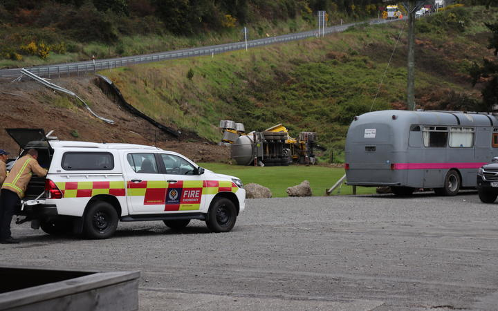 The truck involved in a fatal crash by the Tarawera café on 19 October, 2020.