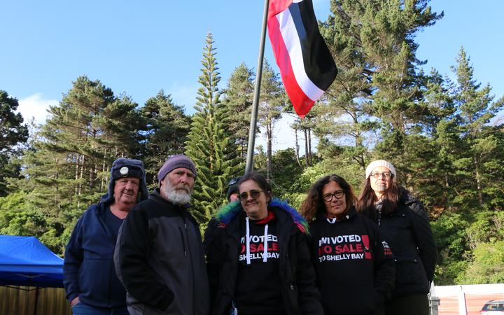 Protesters have occupied land in Wellington's Shelly Bay, 22 November, 2020, supporting Mau Whenua's claim the land was wrongly sold.