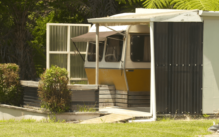 Geoff and Maureen Ward's live in a caravan while they face a lengthy wait for accessible public housing.
