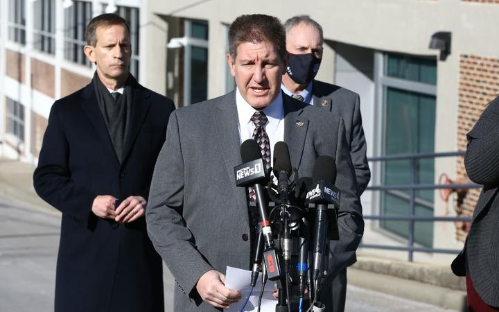 NASHVILLE, TENNESSEE - DECEMBER 26: FBI Special Agent in Charge Douglas Korneski speaks during a news conference on the Christmas day bombing on December 26, 2020 in Nashville, Tennessee.