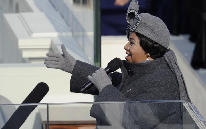 US singer Aretha Franklin performs during the inauguration of President Barack Obama at the Capitol in Washington on January 20, 2009.