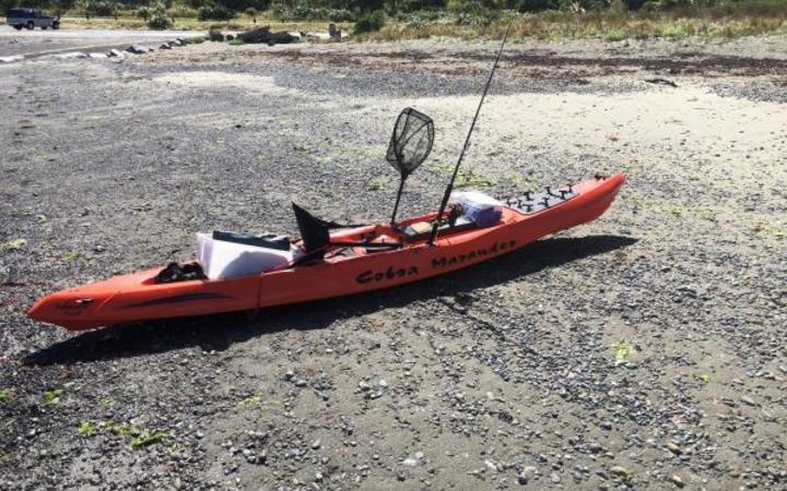 The kayak was found floating in Tarakena Bay.