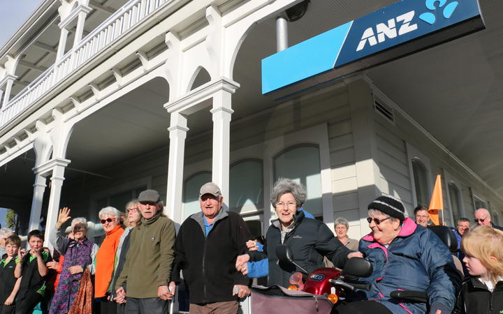 File photo: Martinborough locals protested the closure of South Wairarapa's last high street bank in 2018