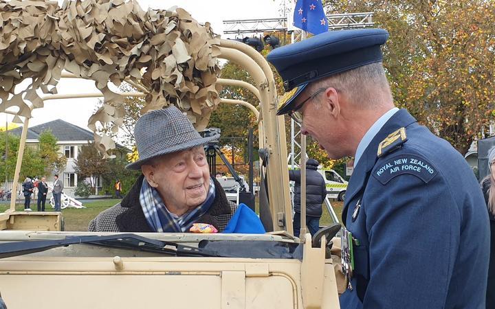 Christchurch's oldest World War II veteran, 108-year-old Bill Mitchell.