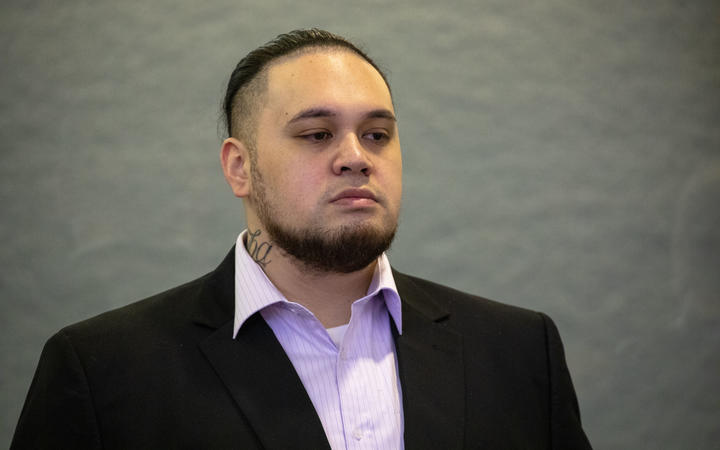 Eli Epiha on trial at the Auckland High Court.