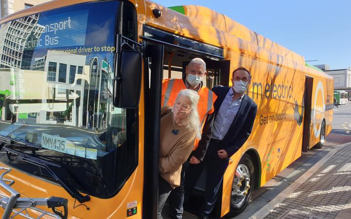 Electric bus trial in Dunedin.