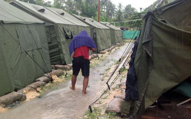 Australian detention centre on Manus Island, PNG