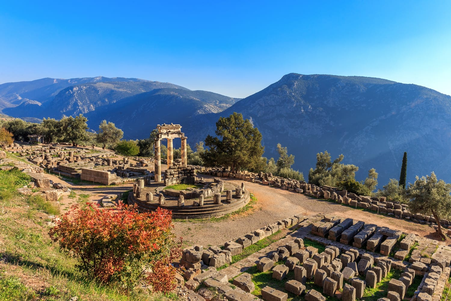 Ancient Ruins at Delphi in Greece