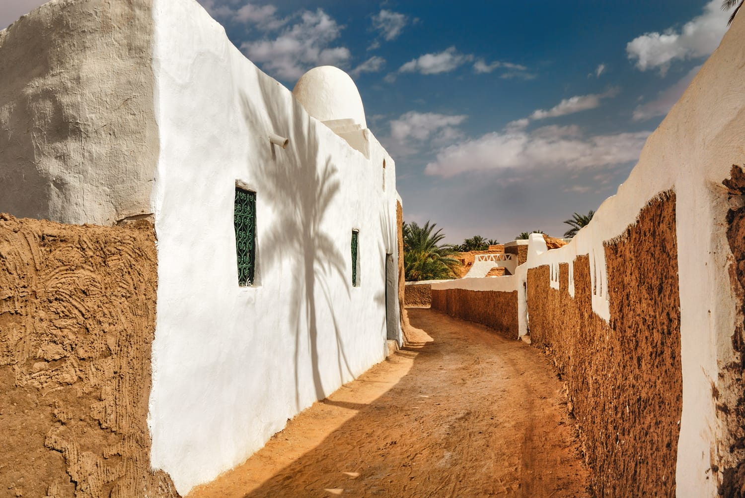 Ghadames, ancient berber city, Libya, UNESCO wold heritage site. The pearl of the desert.