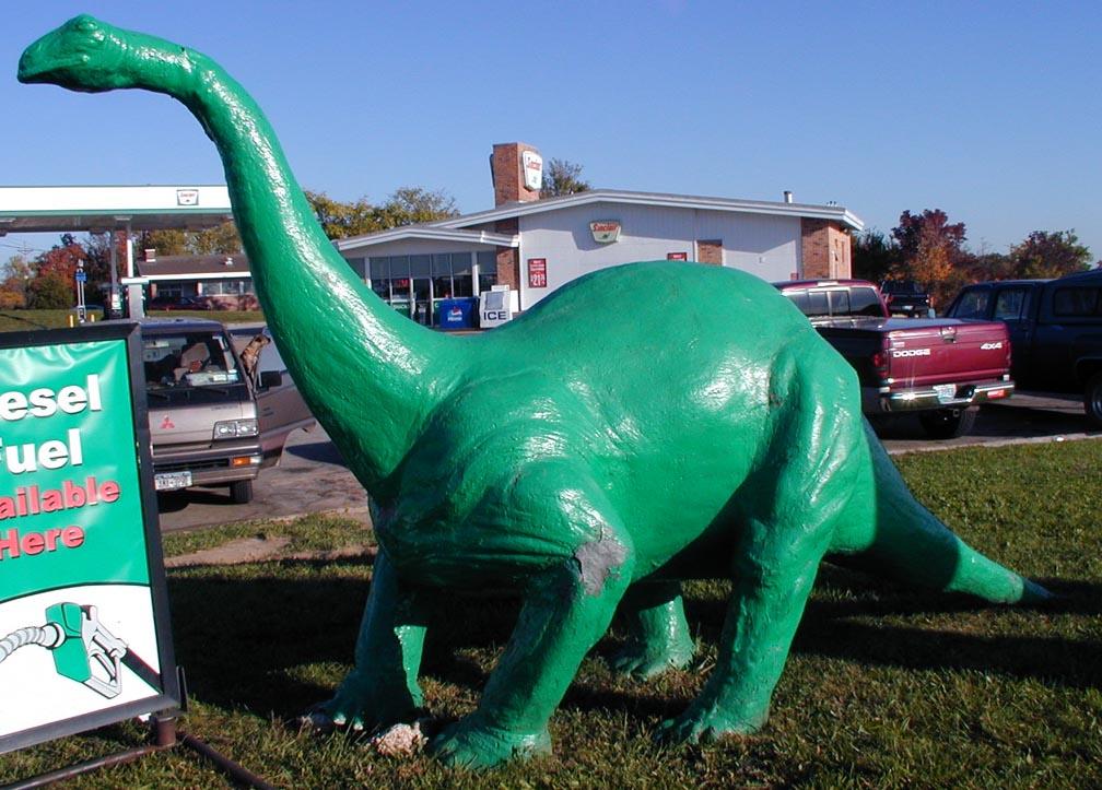 sinclair dinosaur statues roadsidearchitecture