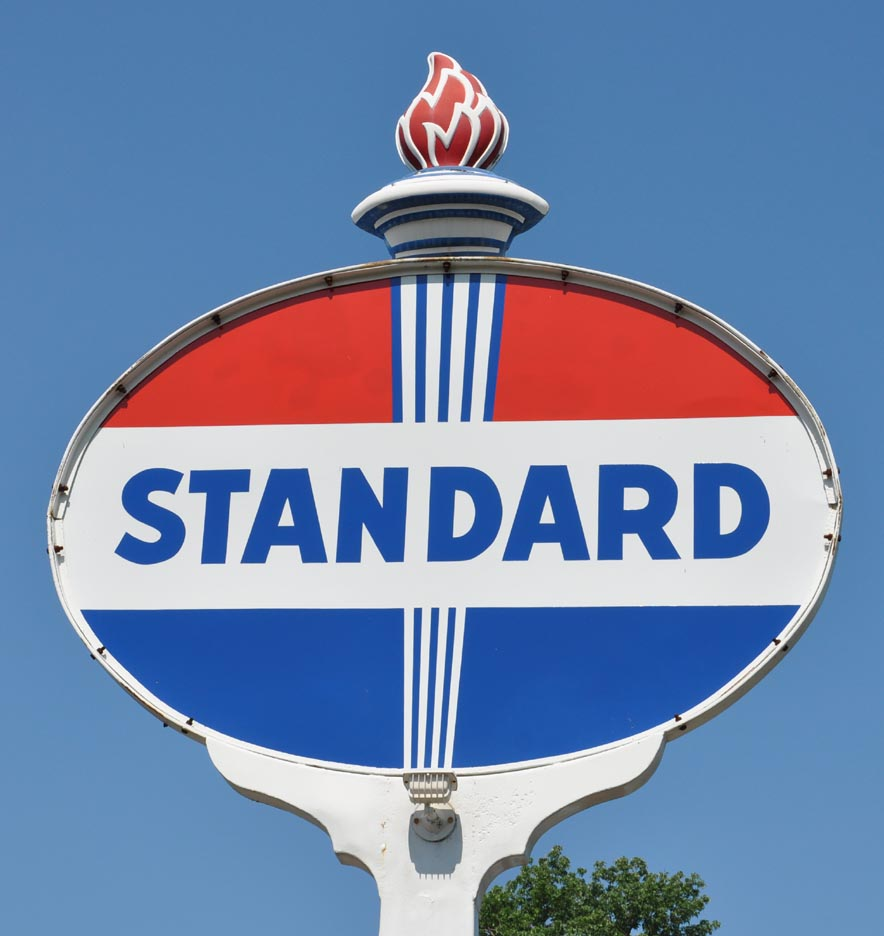 Image result for standard oil sign
