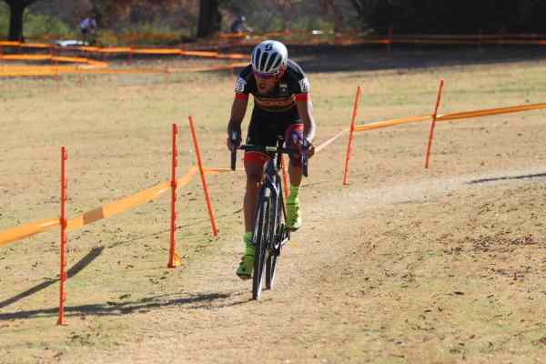 cyclocross racer going past lactate threshold