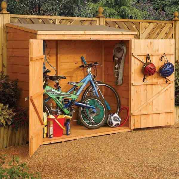 bosmere wood bike shed