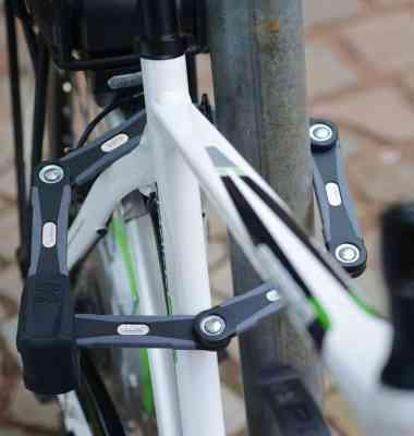 abus bike lock folding