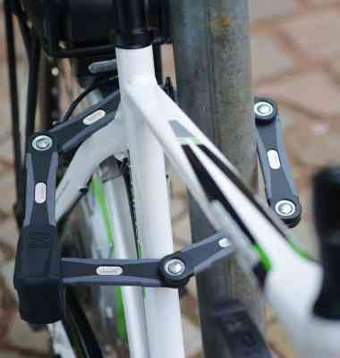 abus bike lock folding