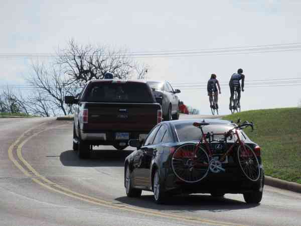 cyclists riding in traffic