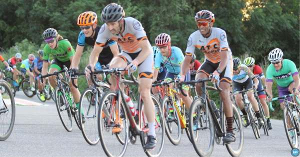 Cyclists riding a century 100 mile ride