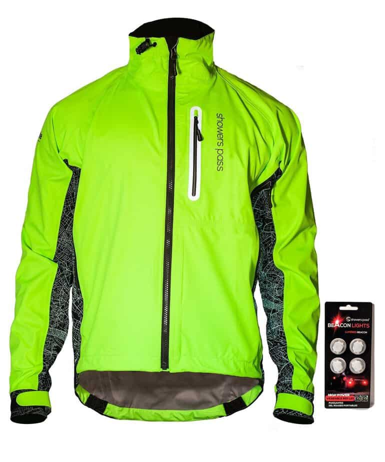 Men/'s Cycling Jackets High Visibility Reflective Windbreaker Hi Viz Bike Jerseys