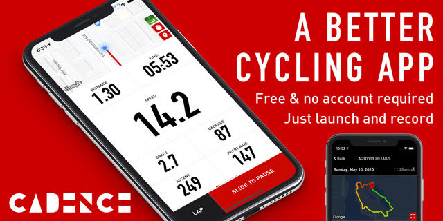 Cadence cycling app