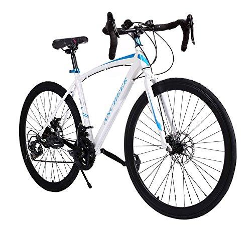 Garain Aluminum Road Bike Shimano 21 Speed 700C Hybrid Bicycle Fixed ...