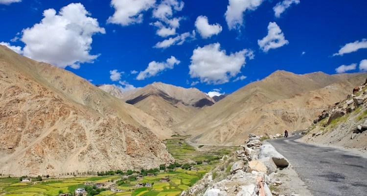 Ladakh in moto con Vedett Mototours, panorama