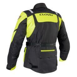 Giacca Clover Scout 2 da uomo nera e gialla, il retro
