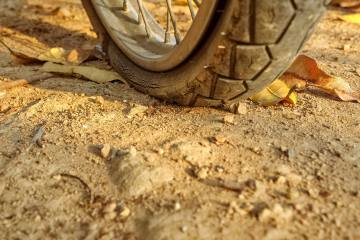 Kit antiforatura per moto, gomma a terra