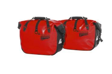 Borse laterali morbide Touratech Endurance Click in rosso