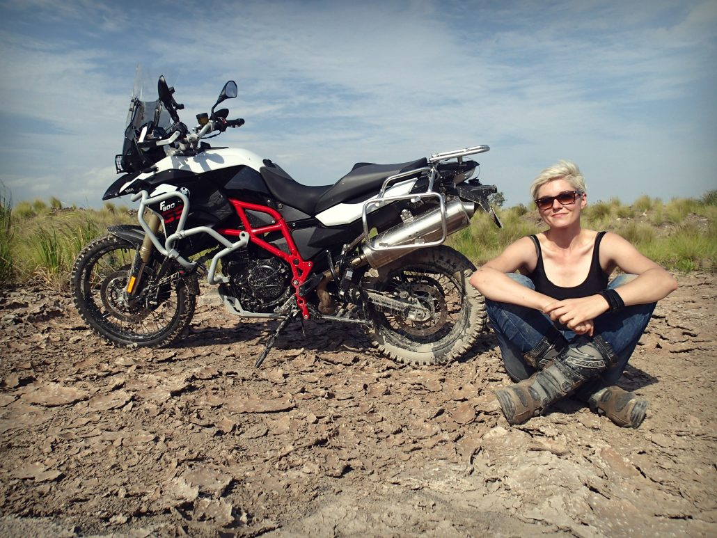 BMW GS 800 Kinga Tanajewska on her bike