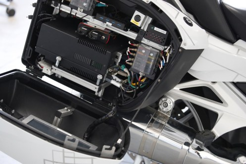bauletto BMW R 1200 GS a guida autonoma