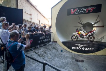 anteprima Moto Guzzi v85 tt