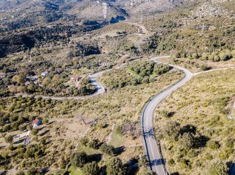 Cilento strada con curve