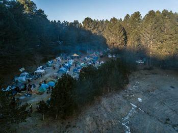 Silantreffen accampamento drone