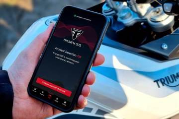 app Triumph SOS sicurezza in moto