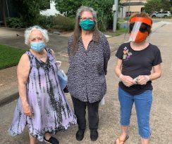 Face Mask Models: Suzan Cotellesse, Ellen Seaton and the Orange Alien