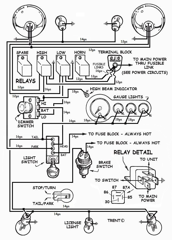 Wiring Hot Rod Lights Diagram